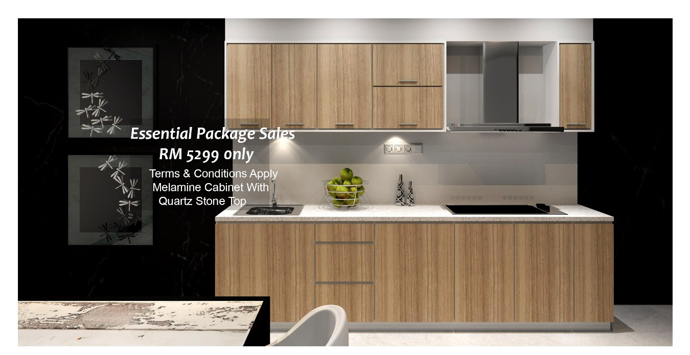 Kitchen Library Melamine Cabinet Promotion Package